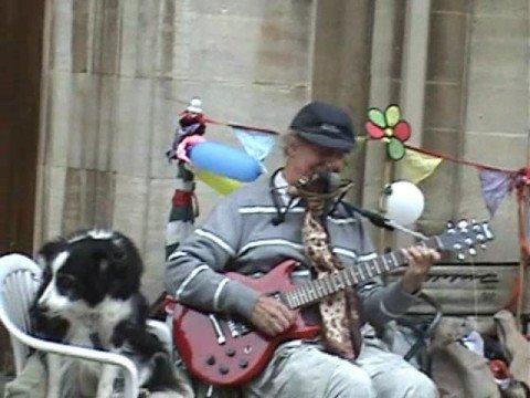 El perro callejero cantor