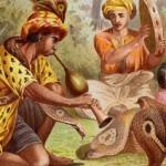 Encantadores de serpientes con dos cobras