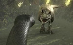 Titanoboa vs. Tiranosaurio Rex