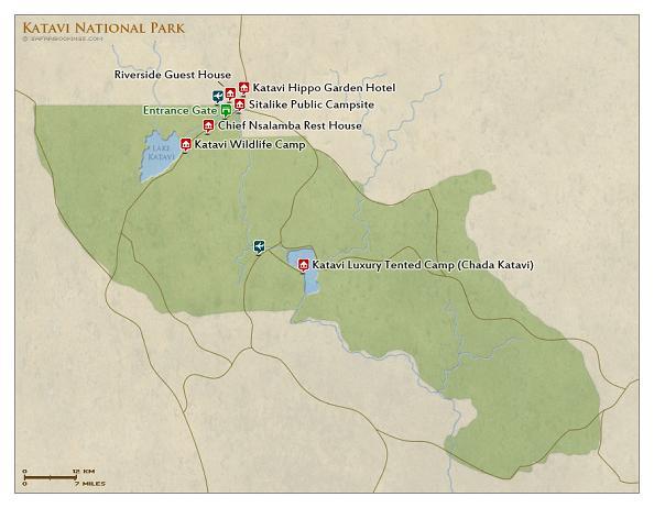 mapa parque nacional katavi