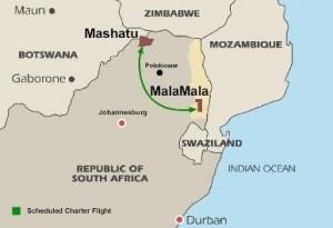 reserva natural mashatu mapa