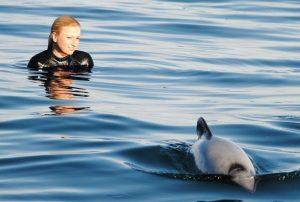 delfin-y-mujer